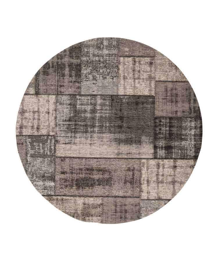 שטיח עגול דוגמת פאצ'