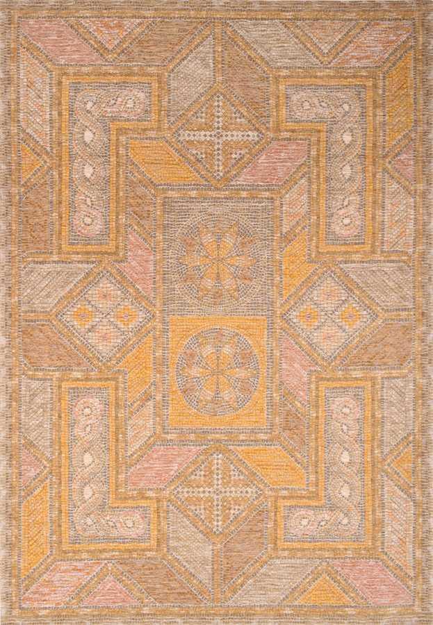 שטיח דוגמת אותנטית צבע צהוב