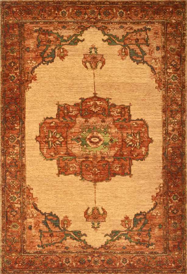 שטיח בדוגמא קלאסית צבע חום