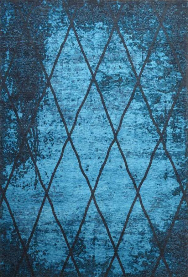 שטיח מודרני בצבע טורקיז