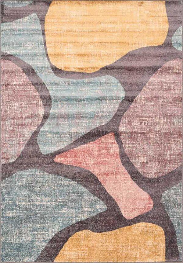 שטיח מודרני גיאומטרי צבעוני