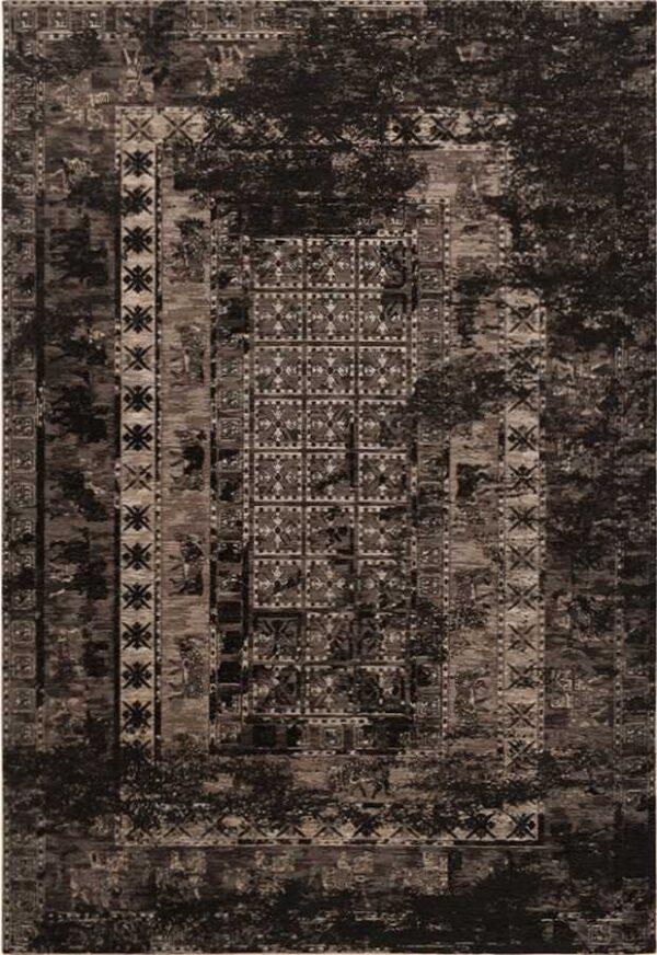 שטיח דוגמת וינטיג' אפור כהה
