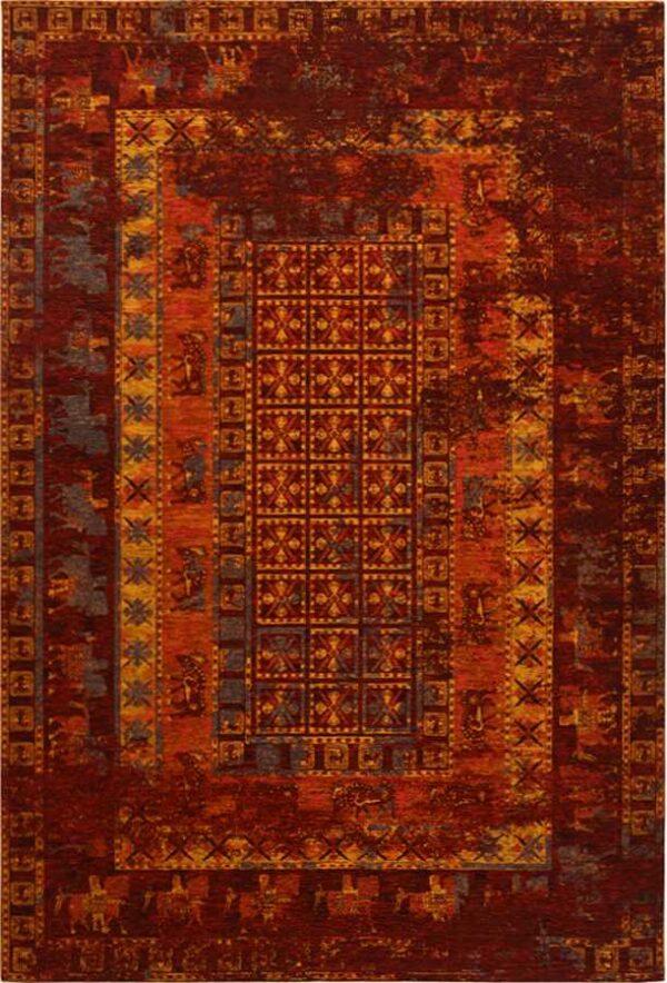 שטיח דוגמת וינטיג' אדום