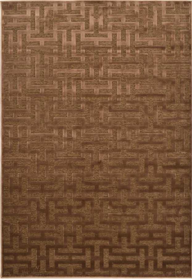 שטיח מודרני גאומטרי חום