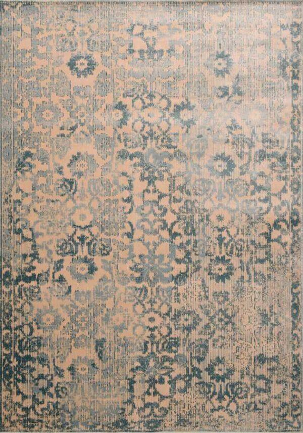 שטיח וינטיג' תכלת ורוד
