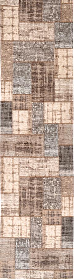 שטיח מודרני פאצ' בז' אפור