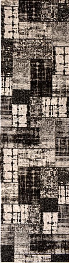 שטיח פאצ' שחור אפור