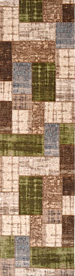 שטיח מודרני פאצ' חום ירוק