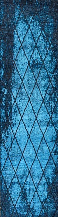שטיח מודרני גאומטרי כחול