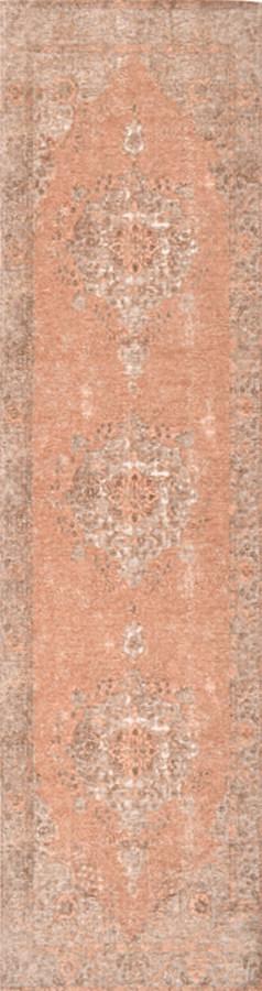 שטיח מודרני וינטייג' דוגמא קלאסית כתום