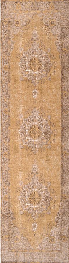 שטיח מודרני וינטג' דוגמה קלאסית צהוב
