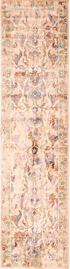 שטיח וינטייג' פרחים ורוד בז'