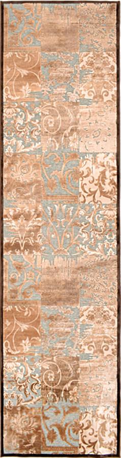 שטיח מודרני חום תכלת