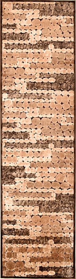 שטיח מודרני דוגמת נחל חום בז'