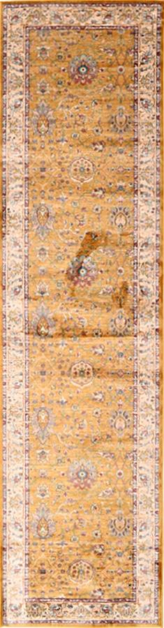 שטיח וינטייג' קלאסי צבע חרדל