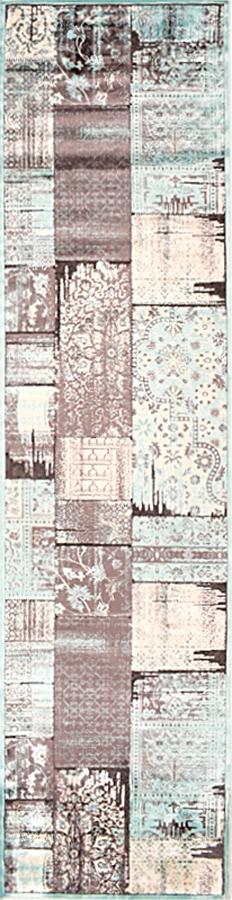 שטיח מודרני פוצ' אפור תכלת
