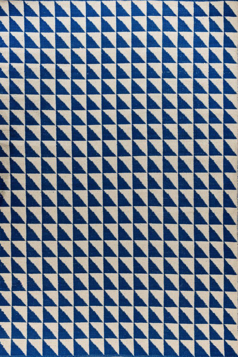 קילים כותנה עבודת יד לבן כחול