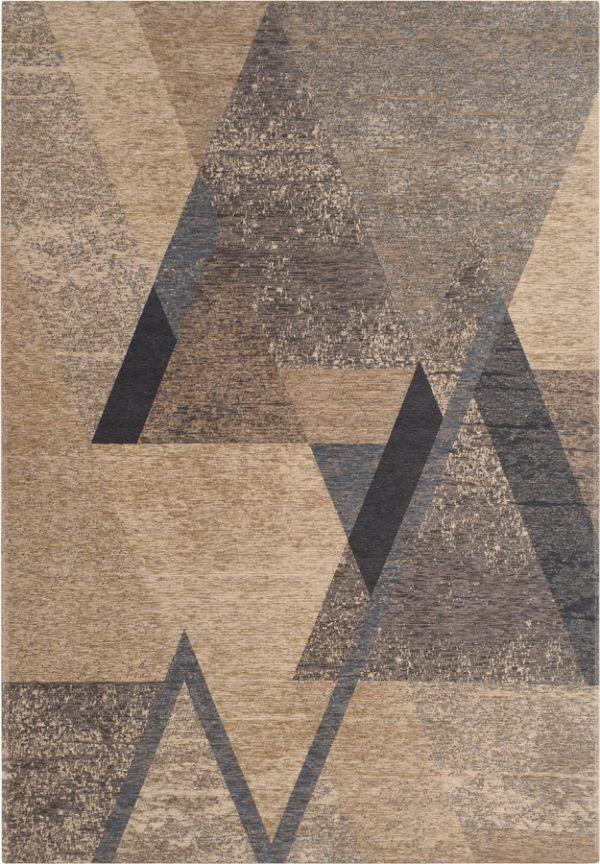 שטיח מודרני גאומטרי כחול אפור