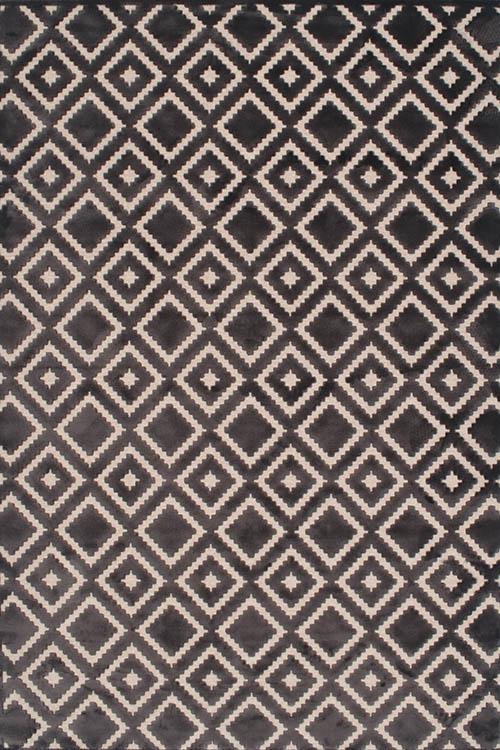 שטיח מודרני גאומטרי שחור