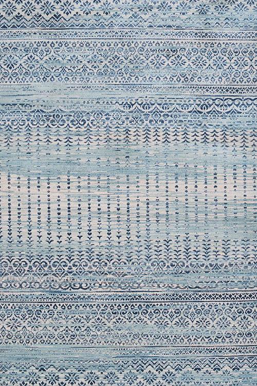 שטיח מודרני אתני כחול