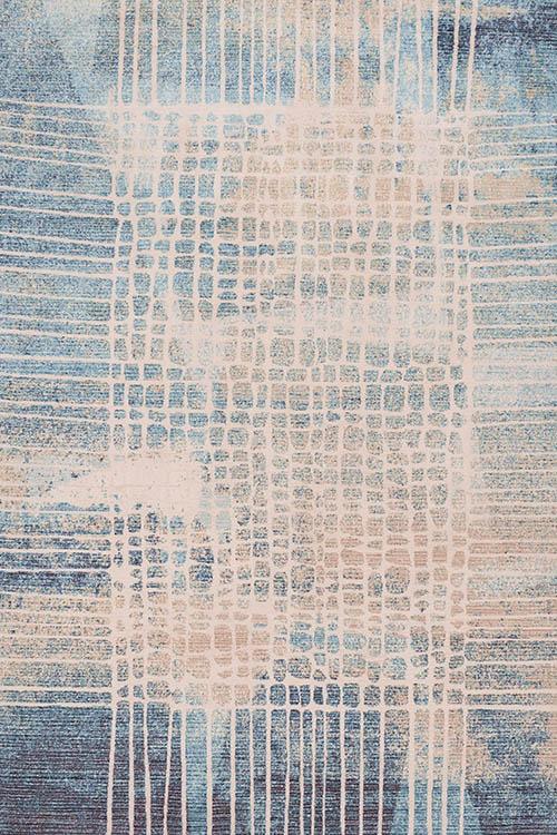 שטיח מודרני אבסטרקט כחול בז'